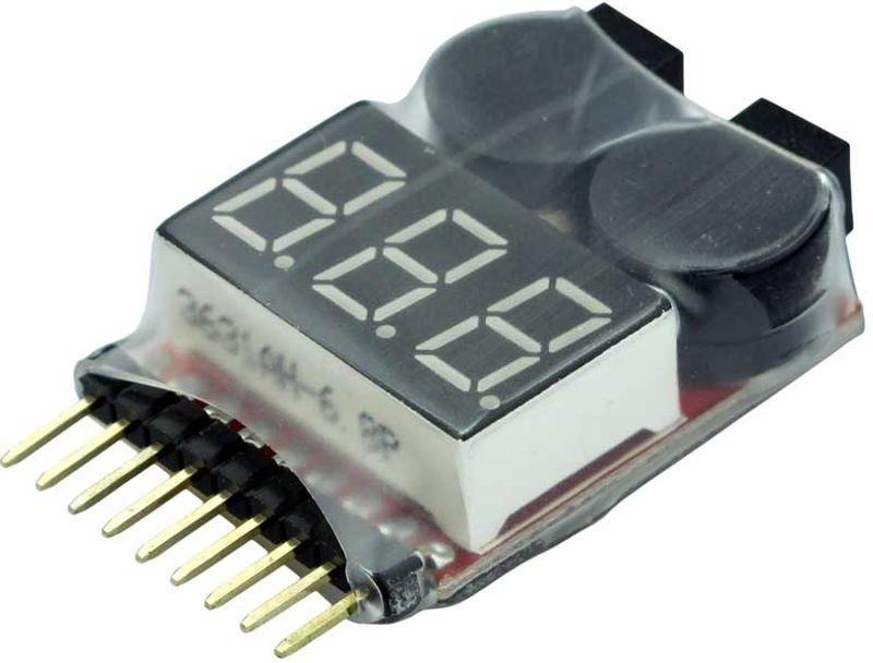 LiPo-Checker  1-8s  im Schrumpfschlauch  einstellbar
