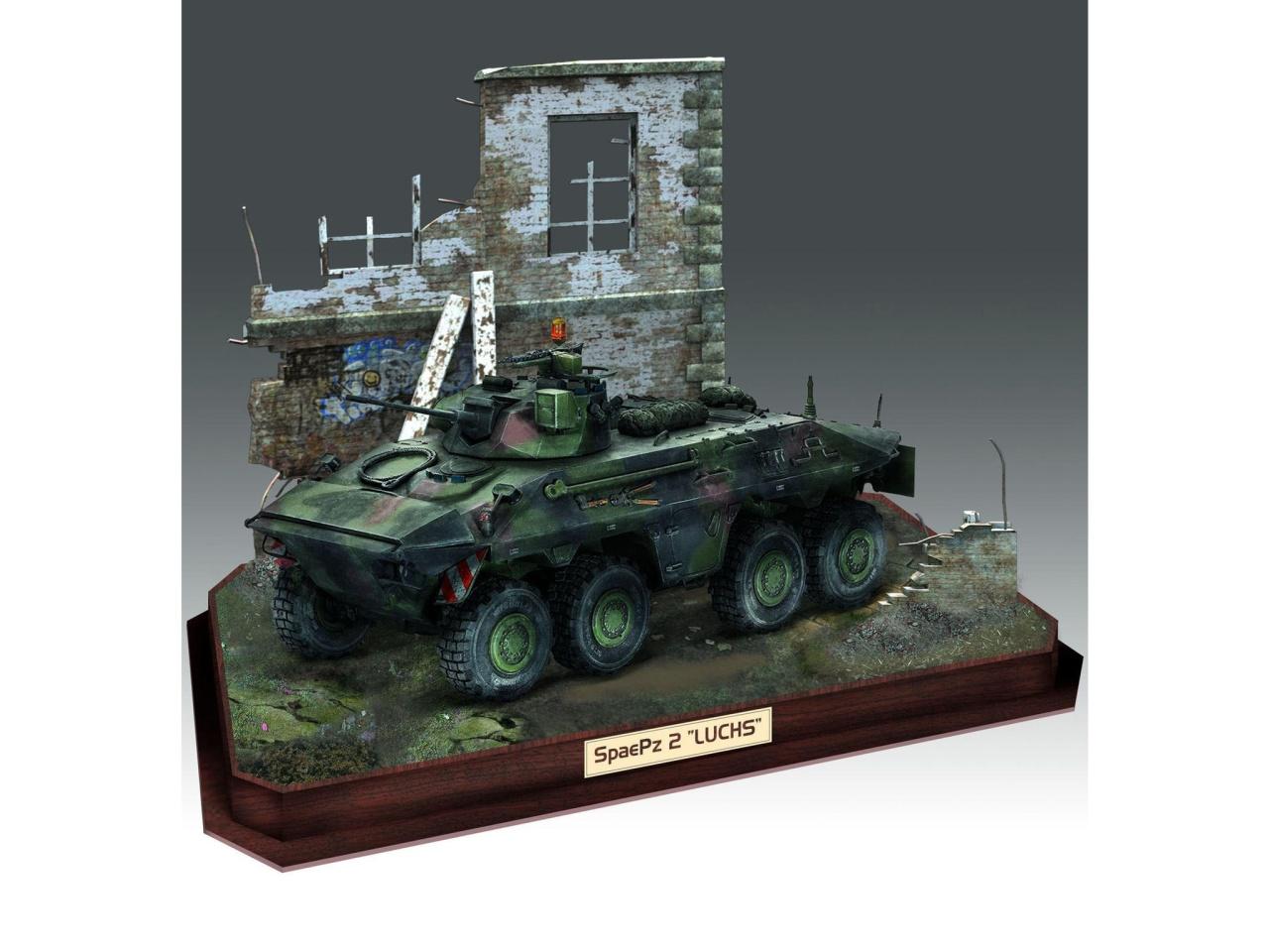 3D Puzzle Diorama & SpPz2 Luchs 1:35