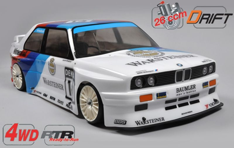 BMW M3 E30 RTR 4WD 510 Drift Chassis 26ccm Benziner 1:5