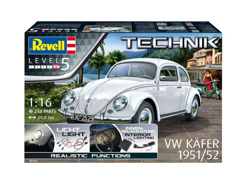 VW Käfer 1951/52 - Technik - Bausatz 1:16 mit Beleuchtung