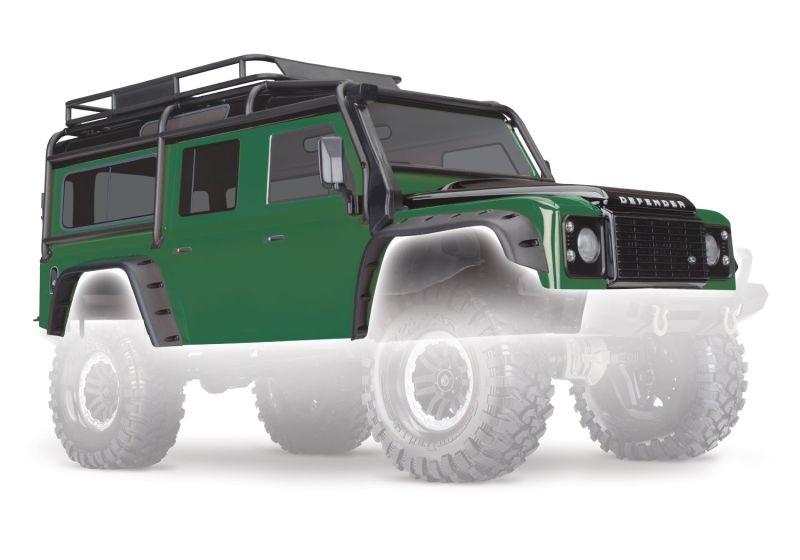 Land Rover Defender Karosserie in grün für TRX-4