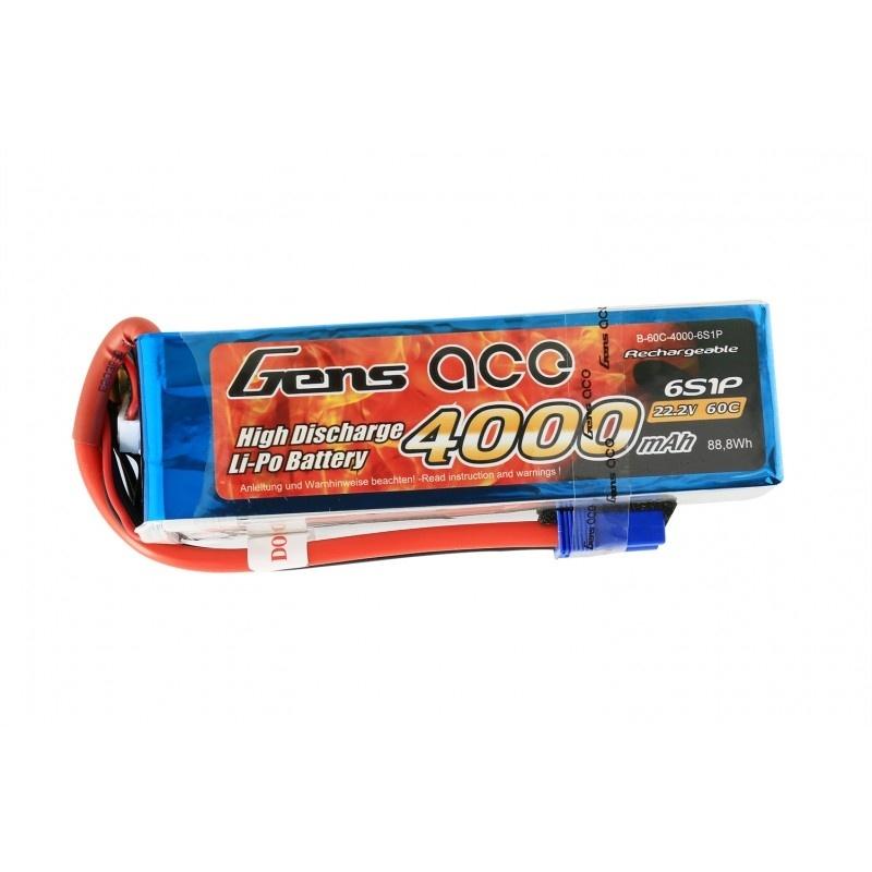 LiPo Akku 4000mAh 6S1P 22,2V 60C mit EC5 Stecker