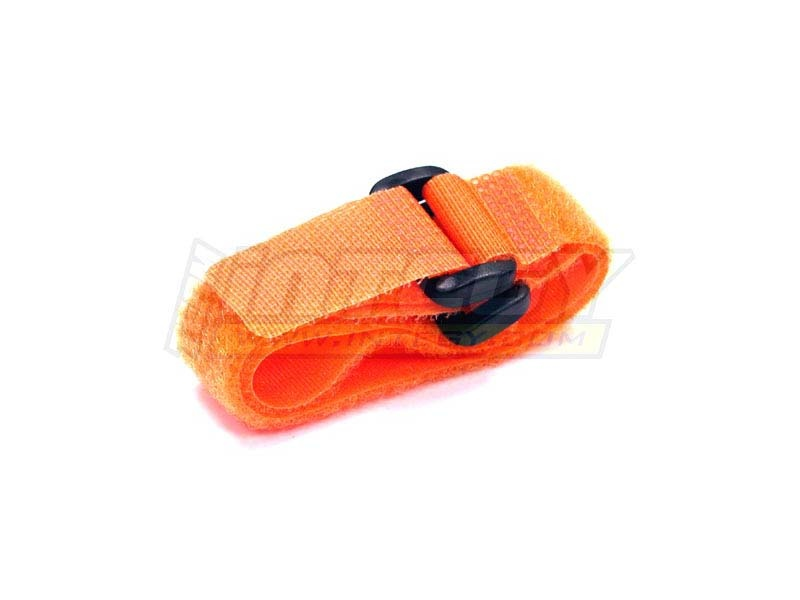 Universal Akku Klettband orange (2) 200mm lang