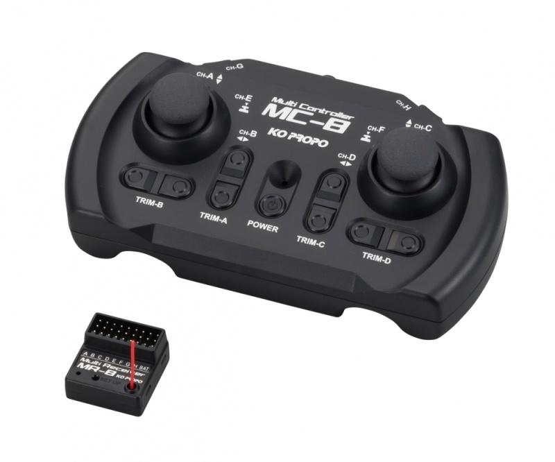 KO 8 Kanal MC-8 MX-F TR Set 2,4GHz
