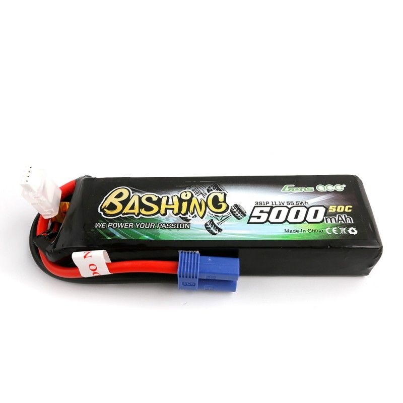Bashing LiPo Akku 5000mAh 11.1V 50C 3S1P mit EC5 Stecker