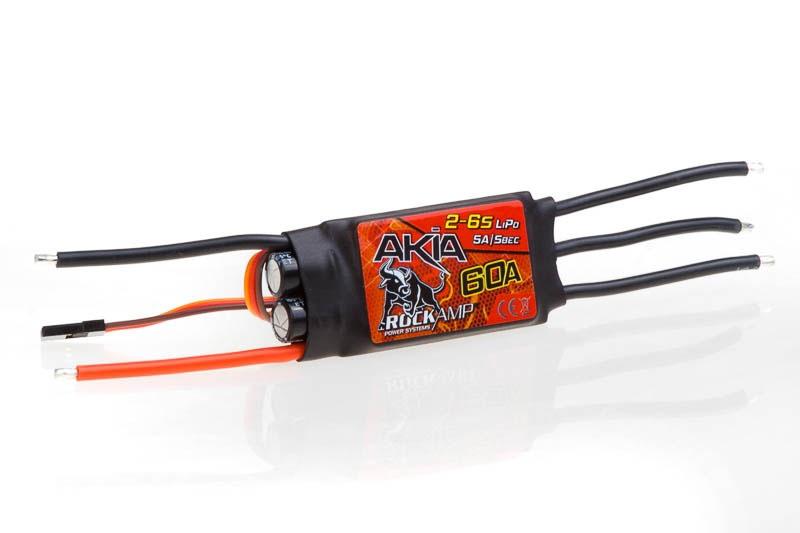 Rockamp Akia 60A / 2-6S Lipo / 5A SBEC