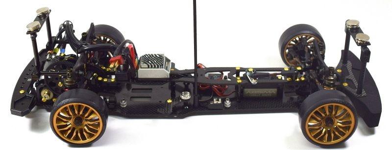 Aluminium Magnet Karosseriehalterung vorne + hinten schwarz