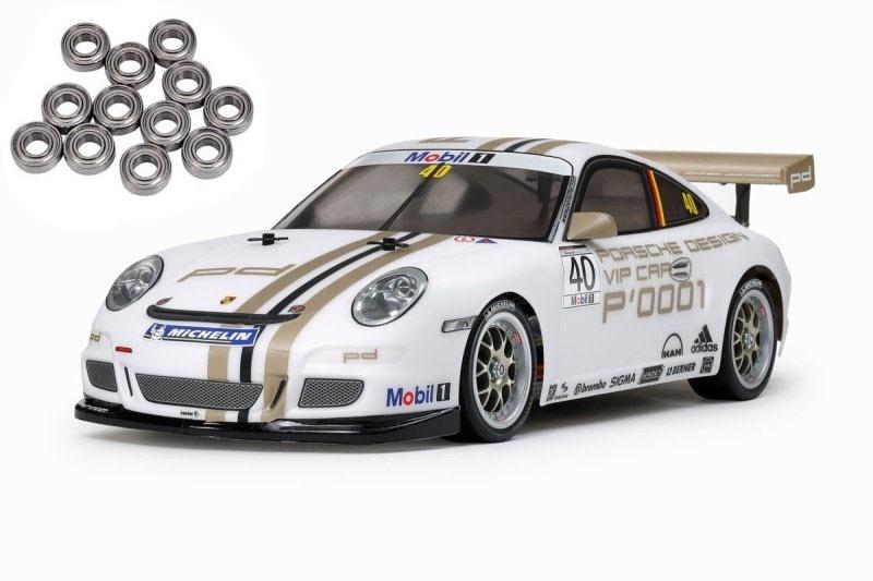Porsche 911 GT3 Cup VIP 08 4WD 1/10 TT-01E Kit + Kugellager
