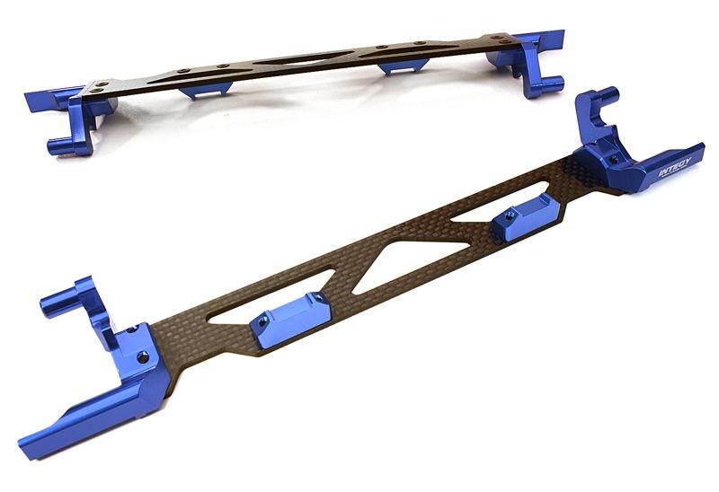 Alu/Composite Akkuhalter für Traxxas X-Maxx, blau