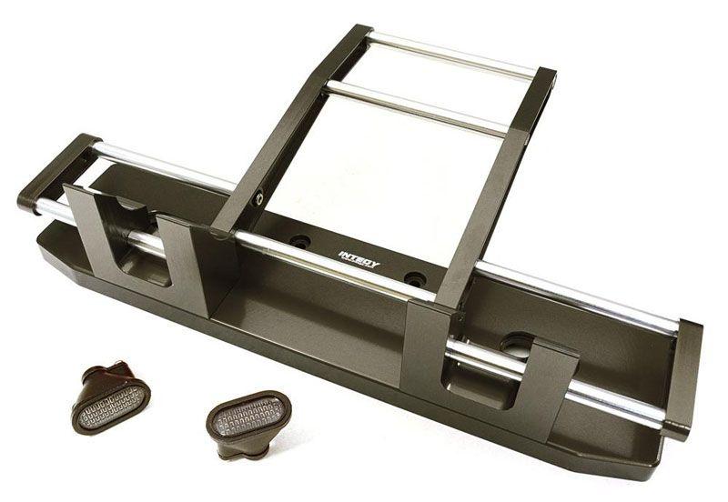 CNC Alu Front Rammer mit LED für 1/14 Tamiya King Hauler