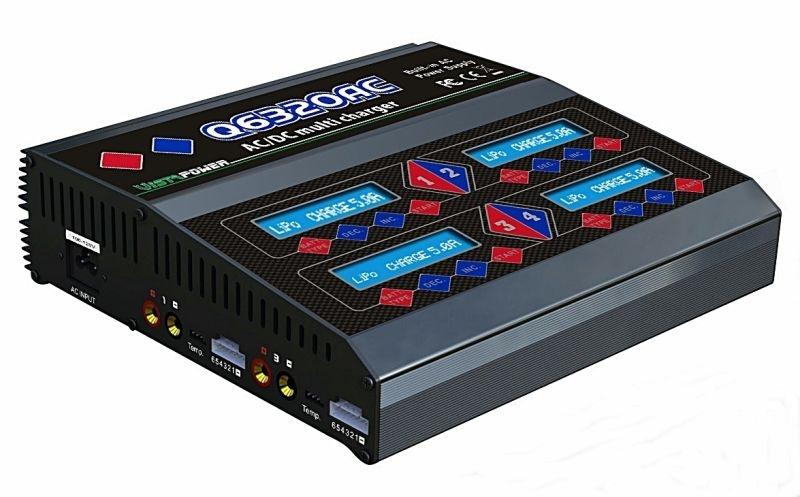 Q6320 Vierfachlader 4x 80W NiMh/LiPo 12V/230V