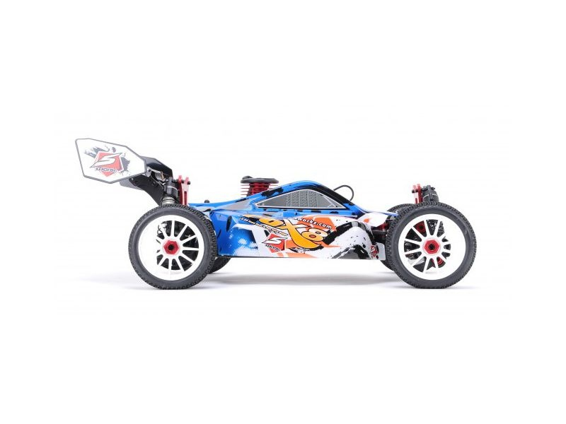 S350 FOX8 1/8 Nitro Off Road Buggy 2,4GHz RTR in Blau