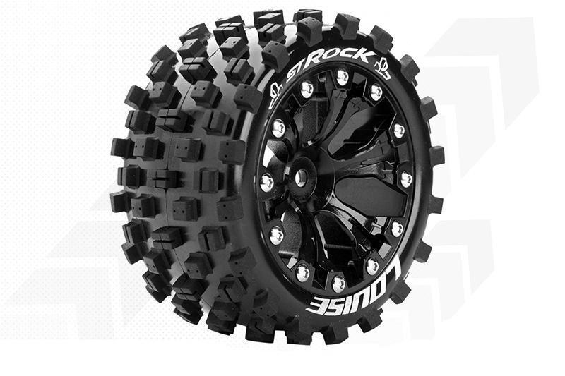 Komplettrad ST-ROCK Sport, schwarz 1/2 Offset 12mm Truck 2,8