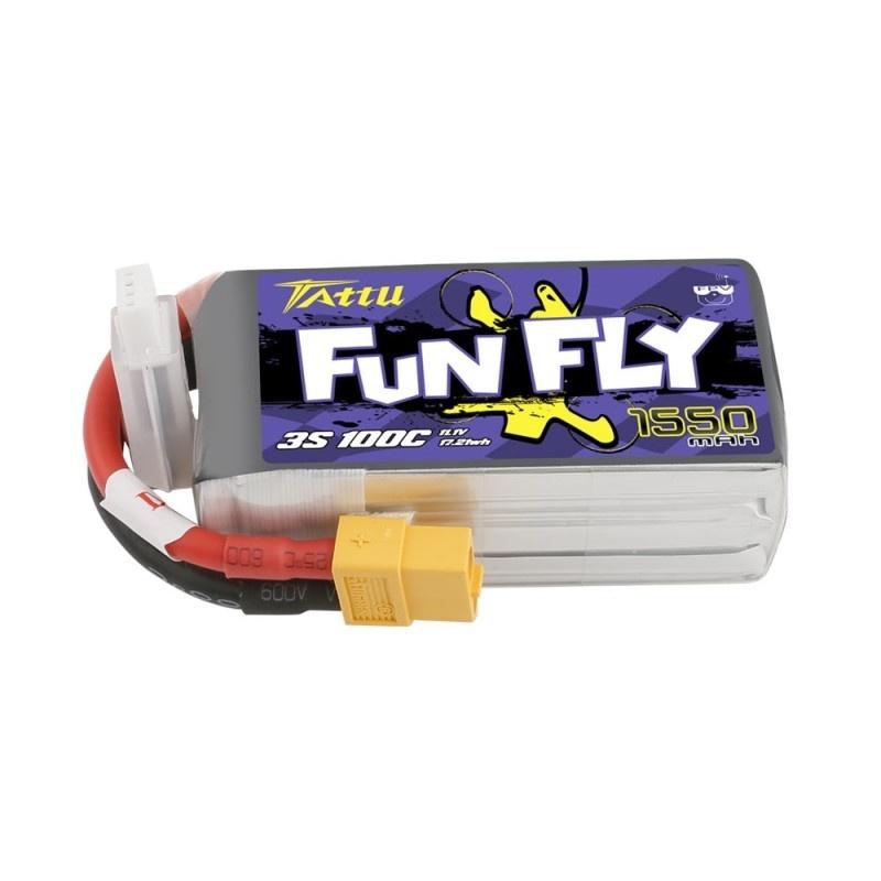 Tattu Funfly LiPo Akku 3S1P 11,1V 1550mah 100C XT60