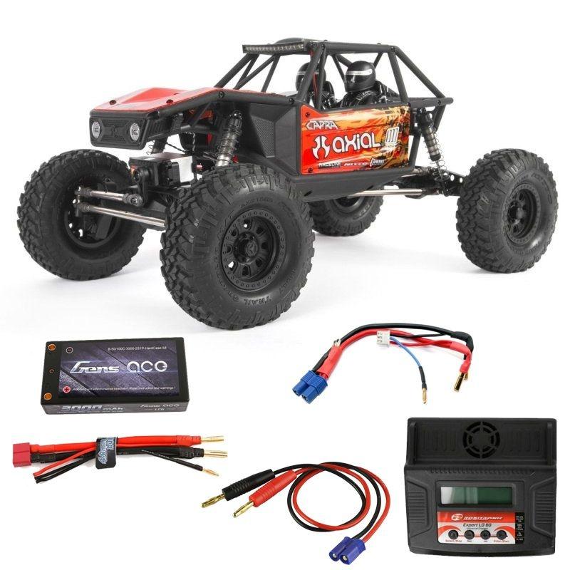Capra 1.9 4WD Trail Buggy 1/10 2,4GHz RTR rot - Komplett Set