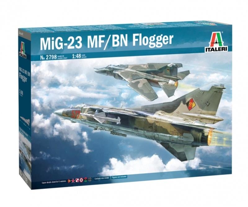 MIG-23 MF/BN Flogger Militär Flugmodell 1:48 Plastik Bausatz