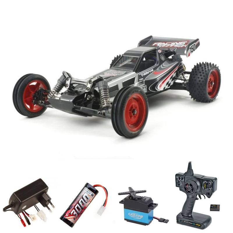 Racing Fighter DT-03 2WD Buggy 1/10 Black Ed. + Komplettset