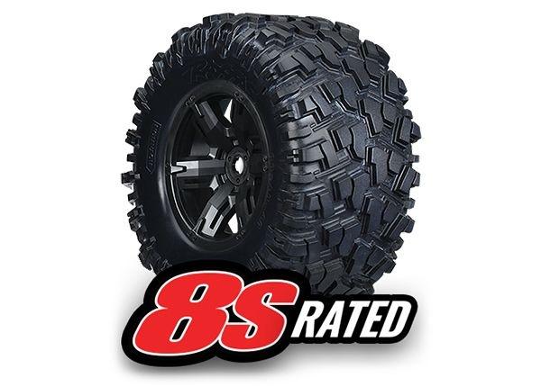AT-Reifen auf Felge montiert, verklebt X-Maxx 8S rated (2)