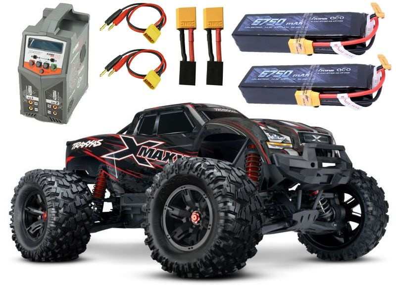 X-MAXX 4WD BLS Monstertruck +2x 4S Gens ace Lipo, Duo Lader
