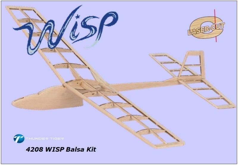 WISP Hand-Wurf-Gleiter, Balsa-Baukasten
