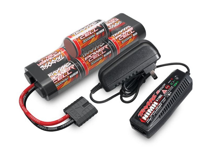 230V Schnell-Ladegerät 2A inkl. NiMH Akku 3000mAh 8,4V
