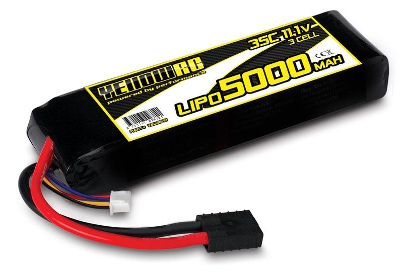 LiPo 5000mAh 11.1V 3S 35C, E-Revo Slash Akku Traxxas