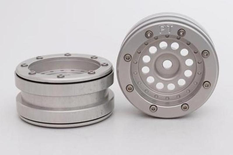 Aluminium Beadlock Felgen 1.9 PT-Bullet silber