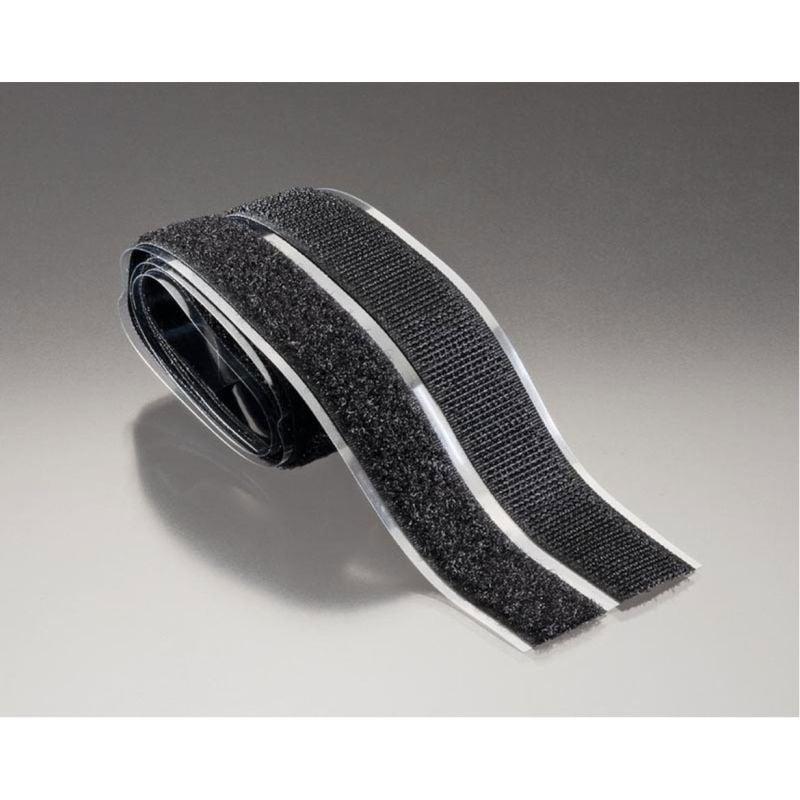 Klettband H+F selbstklebend 30x1000mm schwarz