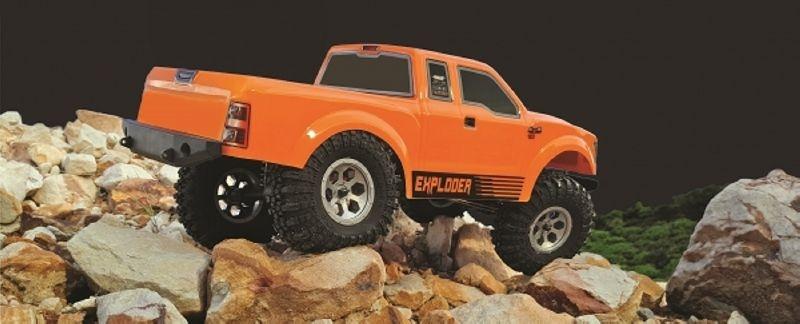 FMR-X1 Pickup Crawler 4WD 1/10 LED 2,4GHz 100% RTR, orange