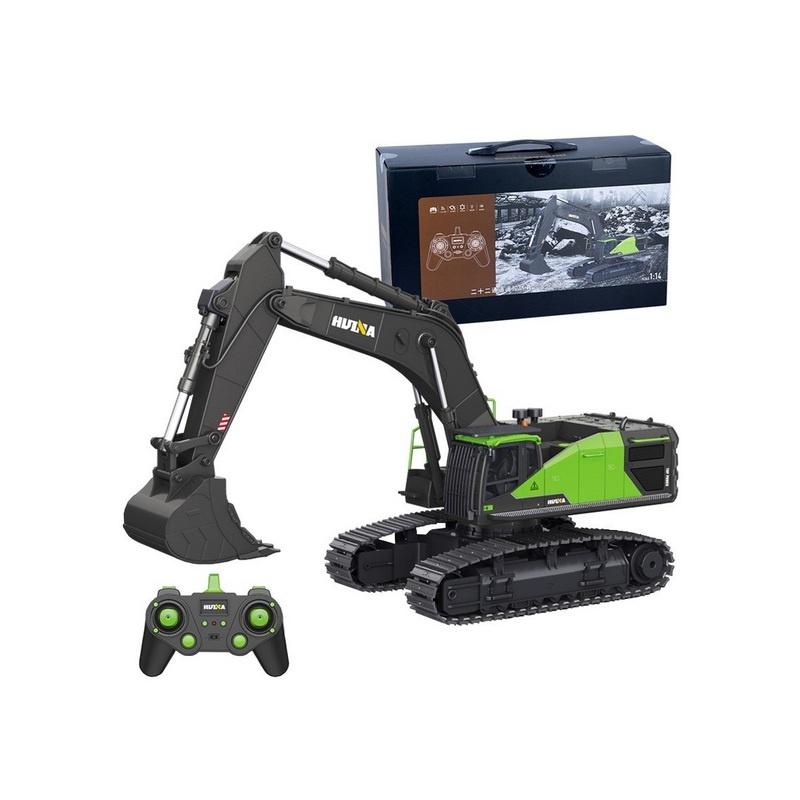 Kettenbagger 1:14 grün mit hochwertiger Technik