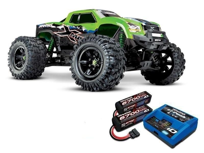 X-MAXX 8S 4WD Brushless Monstertruck greenX, LiPos und Lader