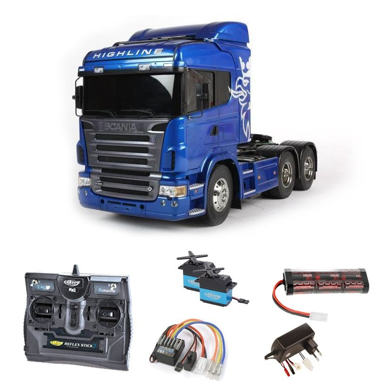 Scania R620 6x4 Highline Blue edition 2,4GHz Komplettset
