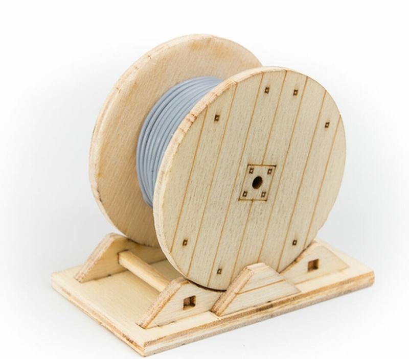 Erdkabel-Trommel für LKW 1:16 bis 1:12 Laser Holz-Bausatz