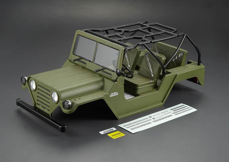 1/10 Crawler-Karosserie WARRIOR, Military Green, RTU all-In