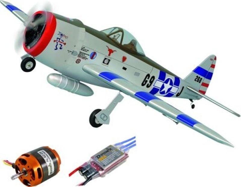 Phoenix P-47 Thunderbolt incl. BL Motor & Regler - 164 cm