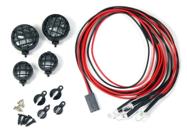 Nebelscheinwerfer Set Rund inkl. LEDs 1:10 (4)