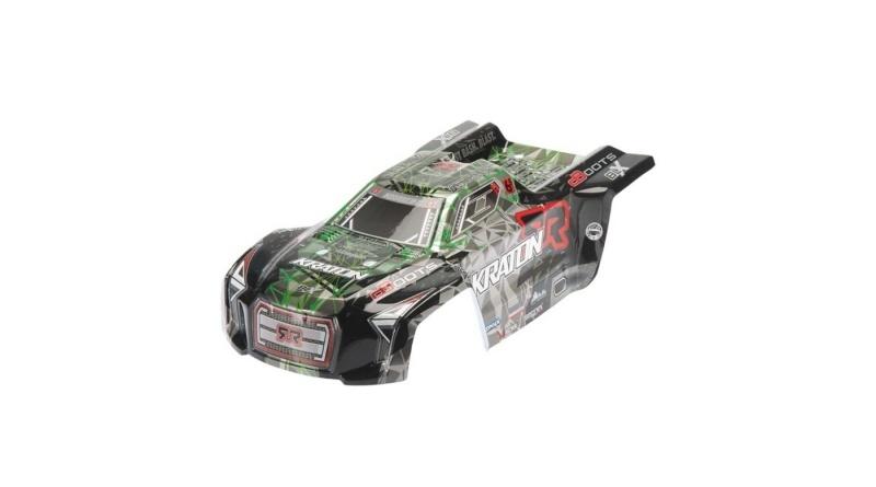 AR406053 Karosserie grün/schwarz lackiert für Kraton 6S