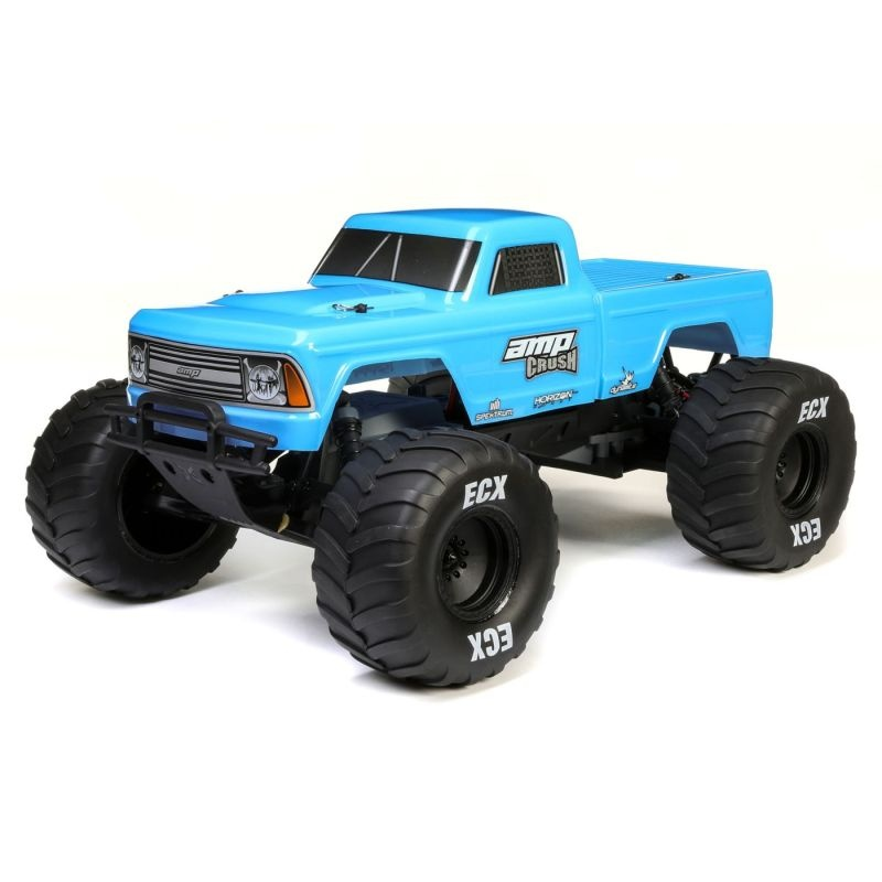 Amp Crush 2WD Monster Truck 1/10 Brushed 2,4GHz RTR, blau