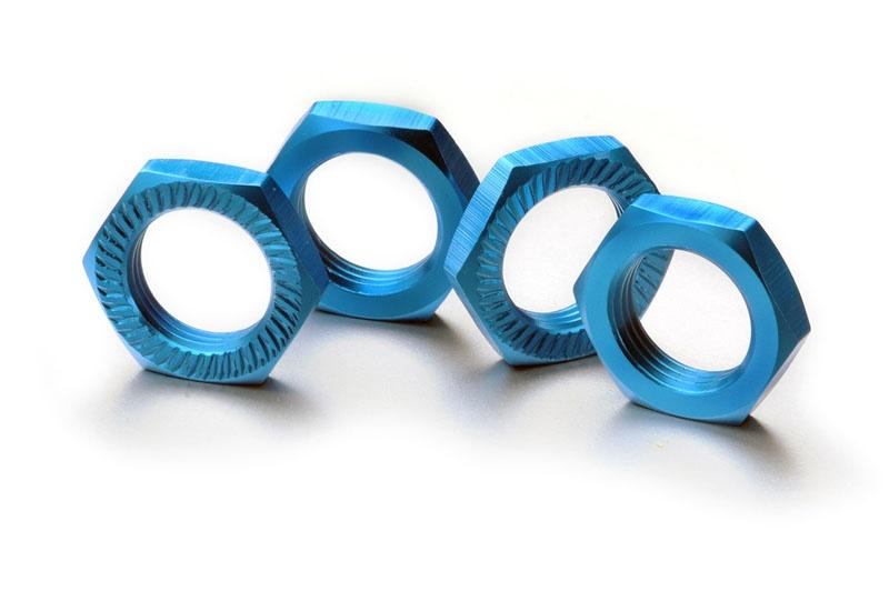 Radmutter selbstsichernd 17mm blau (4 St.)
