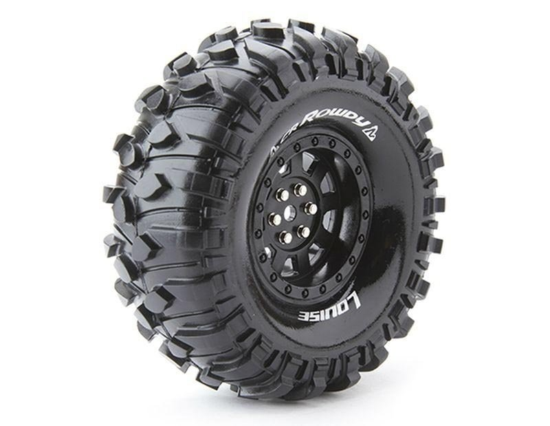 CR-ROWDY 1.9 supersoft Felge schwarz 12mm Crawler LOUISE