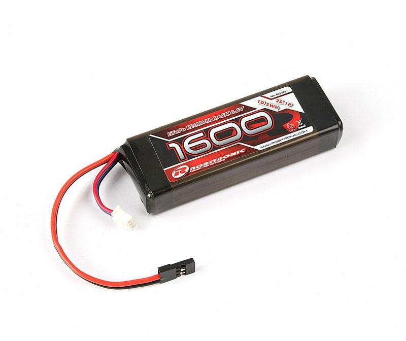 LiFe 6,6V, 1600mAh, 2/3A Straight, Empfängerpack (EH)