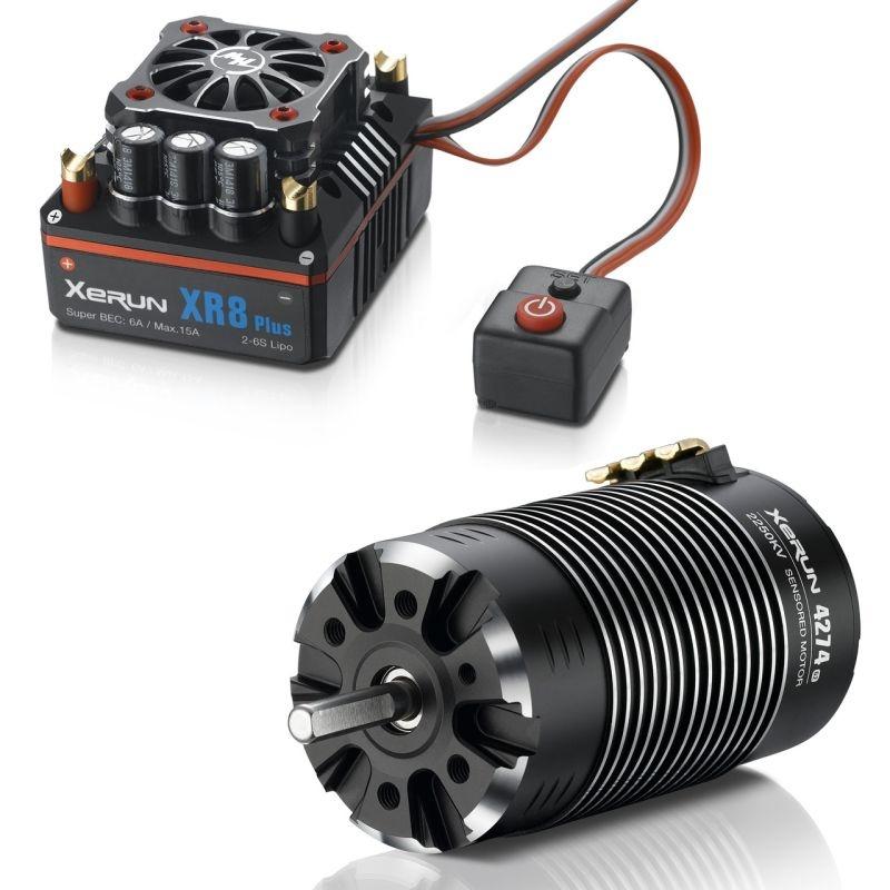 Xerun Combo XR8 Plus 3-6s Motor 4274-2250kV für 1:8