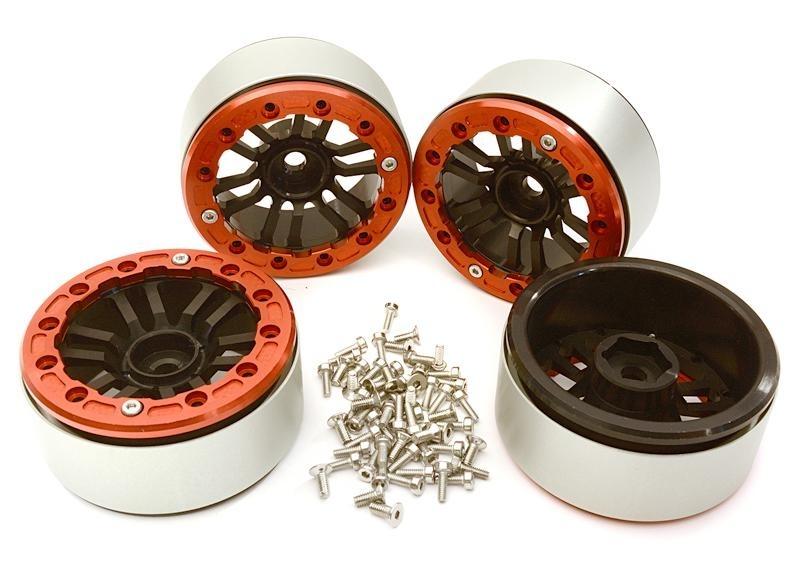 CNC 1.9 Beadlock Speichenfelgen 12mm für 1/10 TRX-4, Crawler