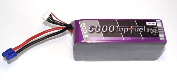 TopFuel LiPo 20C-ECO-X 5000mAh 6S