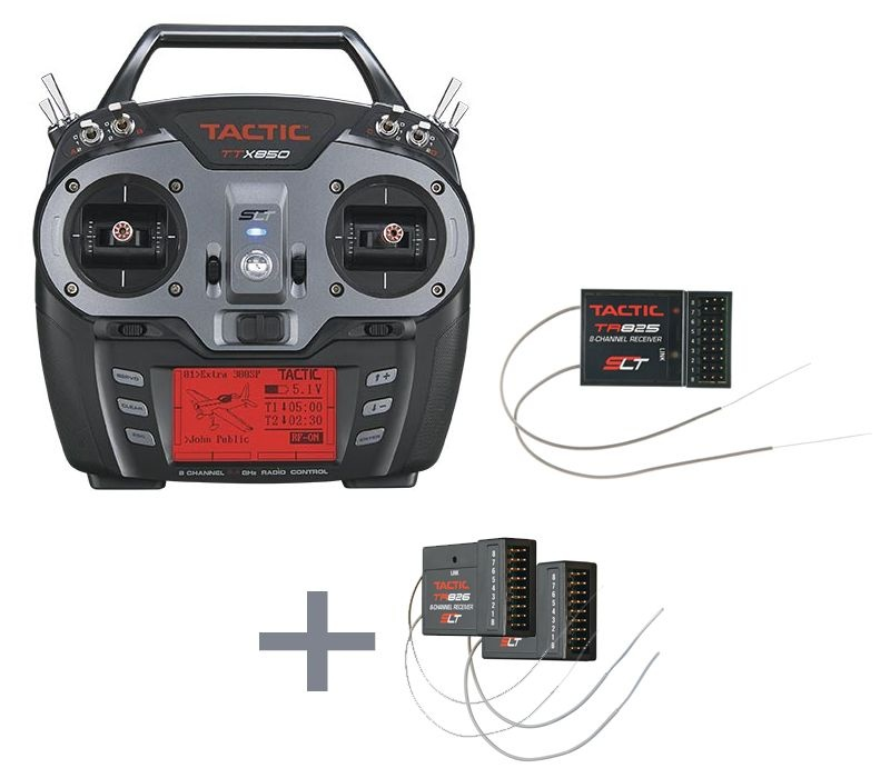 TTX 850 8-Kanal 2,4GHz Fernsteuerung-Set + 2 Empfänger