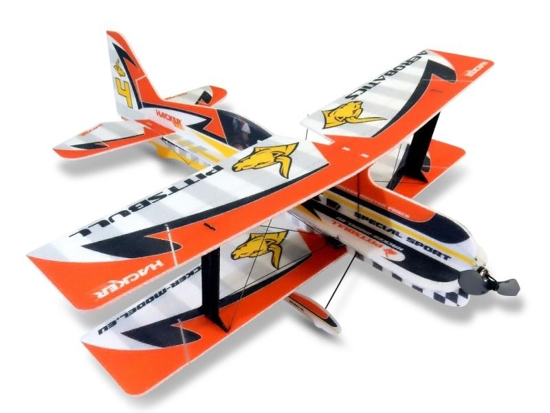Pittsbull Kunstflugzeug Doppeldecker 750mm ARF