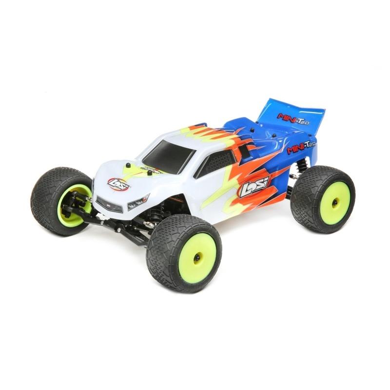 Mini-T 2.0 2WD Stadium Truck 1/18 2,4GHz 100% RTR, blau/weiß