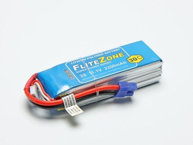 LiPo Akku FliteZone 2200mAh - 11,1V + EC3