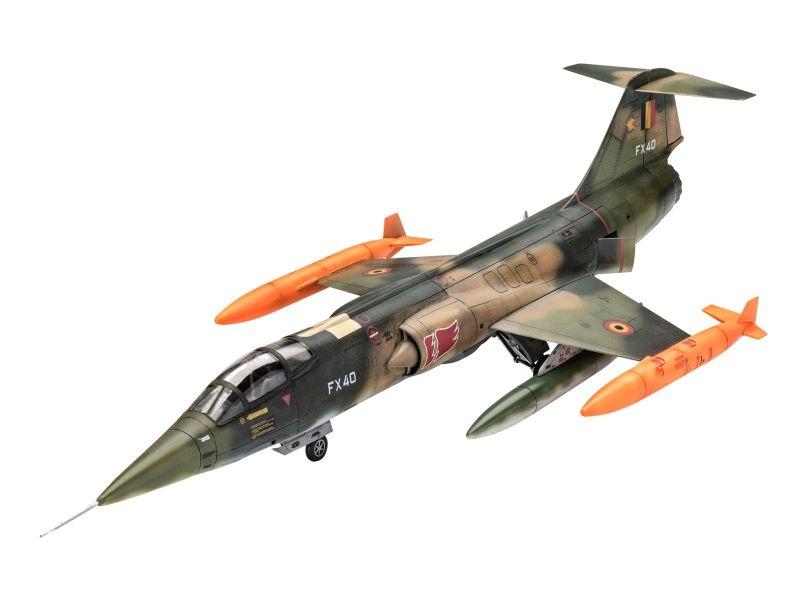 F-104 G Starfighter RNAF/BAF 1:72 + Farben, Pinsel, Kleber