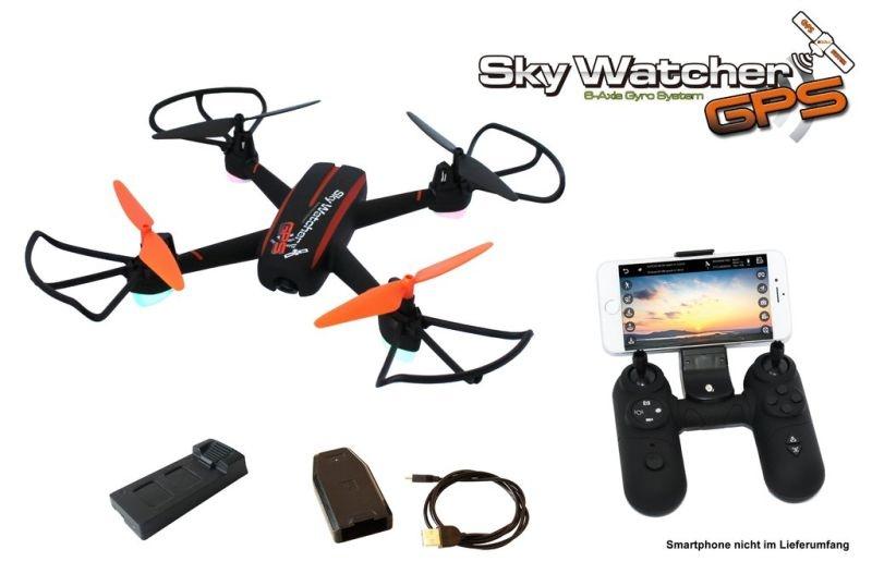 Sky Watcher GPS Quadrocopter inkl. FPV Kamera, Gyro RTF